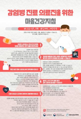 ★코로나19★ 마음건강지침_【감염병 진료 의료진을 위한 마음건강지침】